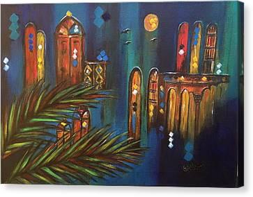 Good Evening Baghdad Canvas Print by Siran Ajel