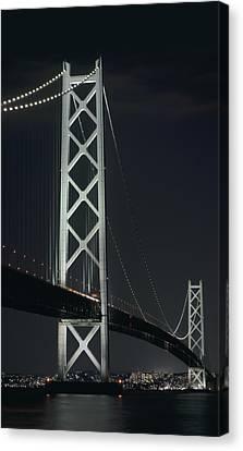 Akashi Kaikyo Suspension Bridge - Japan Canvas Print by Daniel Hagerman