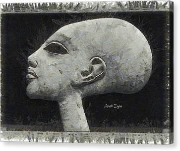 Ancient Egyptian Canvas Print - Akhenaten Was Among Us - Da by Leonardo Digenio