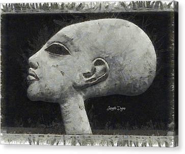 Akhenaten Was Among Us - Da Canvas Print by Leonardo Digenio