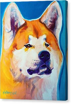 Akita - Apricot Canvas Print by Alicia VanNoy Call