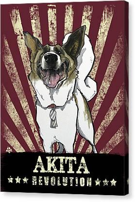 Canvas Print - Akita Revolution by John LaFree