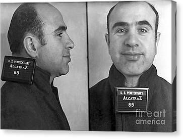Al Capone Alcatraz Mugshot Canvas Print by Jon Neidert