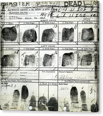 Al Capone Fingerprints Canvas Print