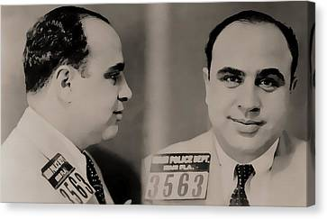 Al Capone Mugshot Canvas Print