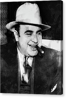 Al Capone Prohibition Boss Of Chicago Canvas Print