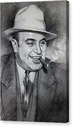 Al Capone  Canvas Print by Ylli Haruni