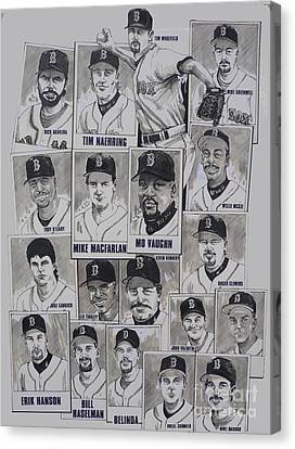 Al East Champions Red Sox Newspaper Poster Canvas Print by Dave Olsen