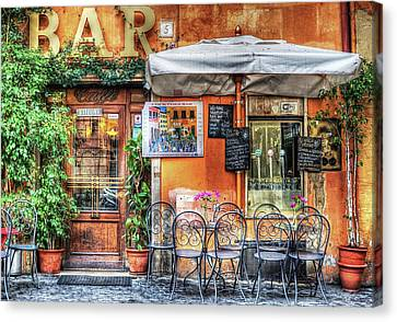 Canvas Print featuring the photograph Al Fresco Dining by Bellesouth Studio