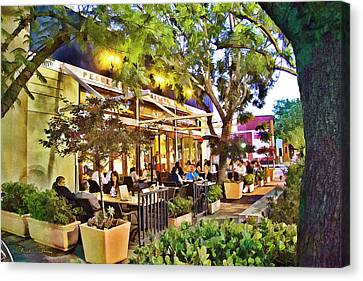 Canvas Print featuring the photograph Al Fresco Dining by Chuck Staley