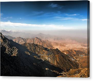Al Hada Road In Taif Canvas Print by Graham Taylor