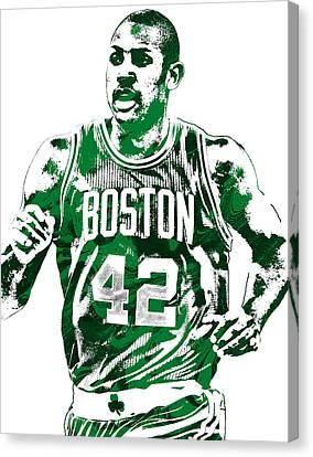 Celtic Art Canvas Print - Al Horford Boston Celtics Pixel Art by Joe Hamilton