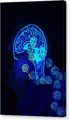 Al In The Mind Black Light View Canvas Print