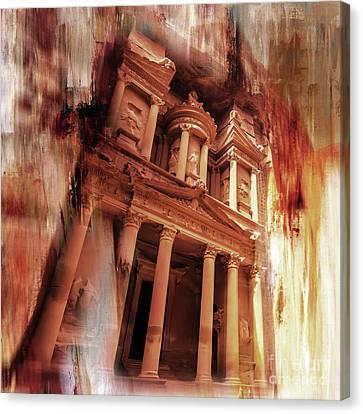 Petra Canvas Print -  Al Khazneh Petra Jordan 01 by Gull G