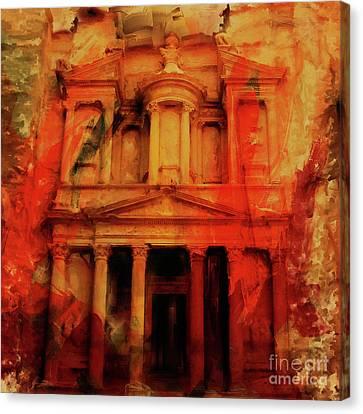 Al Khazneh Petra Jordan 021 Canvas Print by Gull G