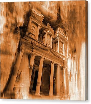 Petra Canvas Print -  Al Khazneh Petra Jordan by Gull G