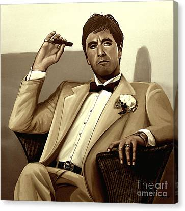 Al Pacino In Scarface Canvas Print