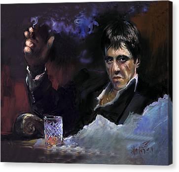 Scarface Canvas Print - Al Pacino Snow by Ylli Haruni