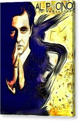 Al Pacino The Goodfather Canvas Print