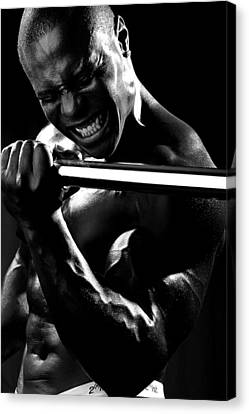 Al Work Out Black And White 2 Canvas Print