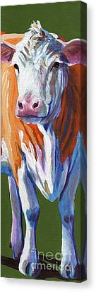 Canvas Print featuring the painting Alabama Cow by Pat Burns