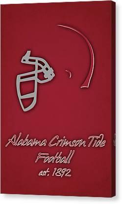 Alabama Crimson Tide Helmet Canvas Print by Joe Hamilton