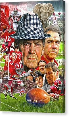 Alabama Crimson Tide Canvas Print by Mark Spears