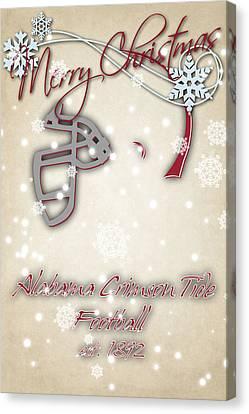 Alabama Cromson Tide Christmas Card Canvas Print by Joe Hamilton