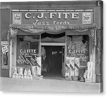 Alabama Feed Store Front, Sign Reads C Canvas Print by Everett