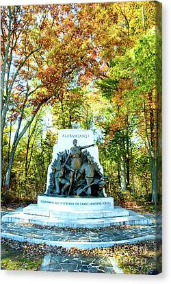 Alabama Monument At Gettysburg Canvas Print