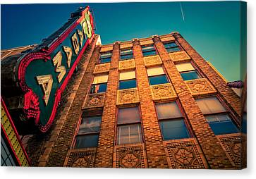 Alabama Theater Sign 2 Canvas Print by Phillip Burrow