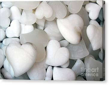 Alabaster Hearts Canvas Print