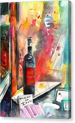 Alabastro Wine From Italy Canvas Print by Miki De Goodaboom