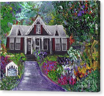 Alameda 1854 Gothic Revival - The Webster House Canvas Print by Linda Weinstock