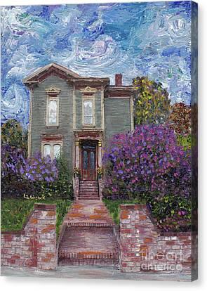Alameda 1888 - Italianate Canvas Print by Linda Weinstock