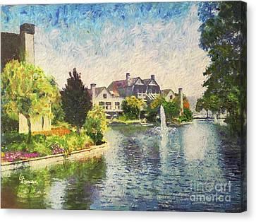 Alameda Marina Village 1 Canvas Print by Linda Weinstock