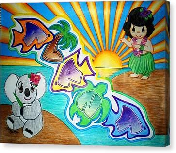 Tropical Sunset Canvas Print - Alana by Kristy Mao