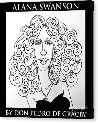 Celeb Canvas Print - Alana Swanson by Don Pedro De Gracia