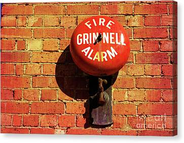 Canvas Print featuring the photograph Alarm Bell by Stephen Mitchell