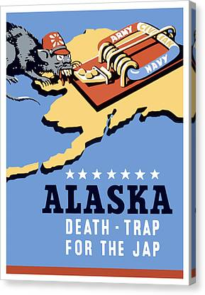 Alaska Death Trap Canvas Print by War Is Hell Store