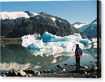 Canvas Print featuring the photograph Alaska Glacier Lake by Judyann Matthews