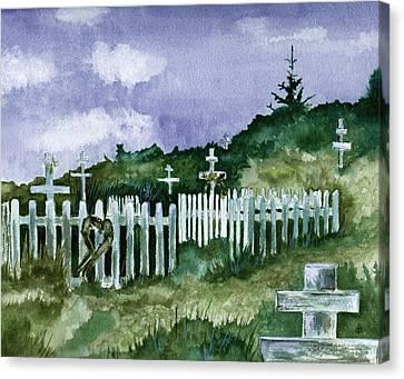 Alaska Graveyard  Canvas Print by Brenda Owen
