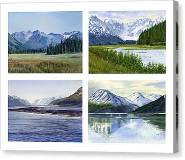 Alaska Landscape Poster 2 Canvas Print