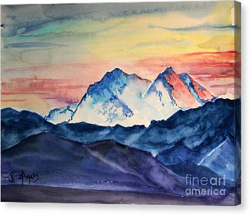 Canvas Print - Alaska Mountain by Tina Sheppard