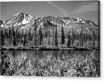 Alaska Mountains Canvas Print by Zawhaus Photography