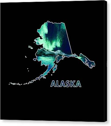 Alaska - Northern Lights - Aurora Hunters Canvas Print by Anastasiya Malakhova