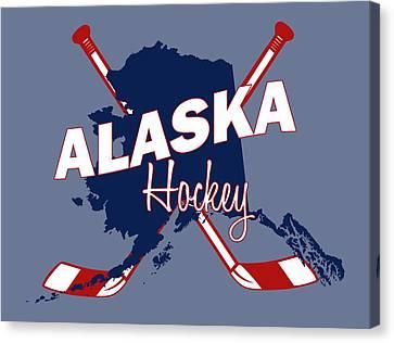 Alaska State Hockey Canvas Print by Summer Myers