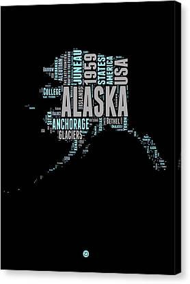 Alaska Word Cloud 1 Canvas Print by Naxart Studio