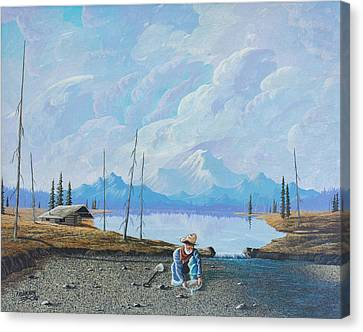 Canvas Print featuring the painting Alaskan Atm by Richard Faulkner