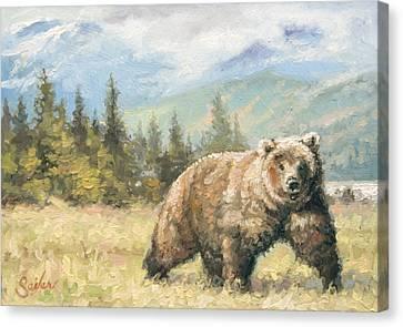 Alaskan Brownie Canvas Print by Larry Seiler